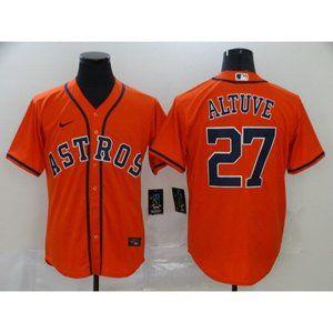 Houston Astros Jose Altuve Orange Game Jersey